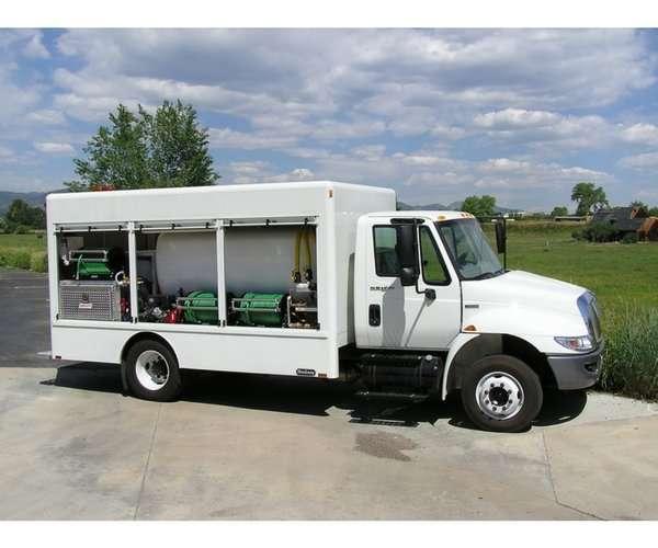 Box Spray Truck
