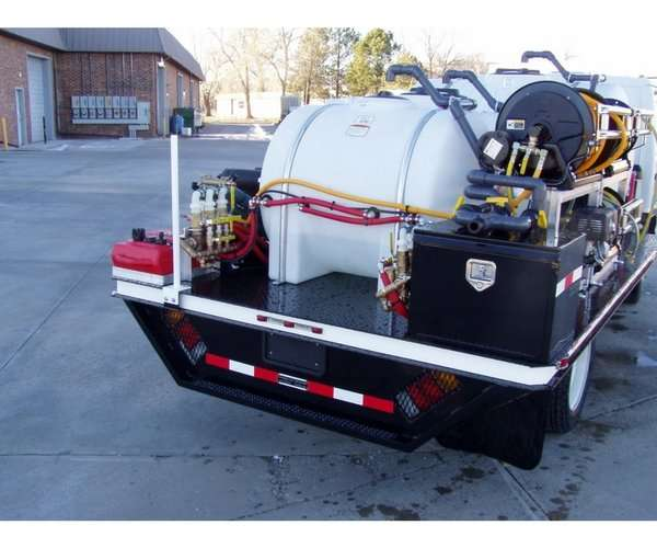 Custom Cab-Over Flatbed Spray Truck